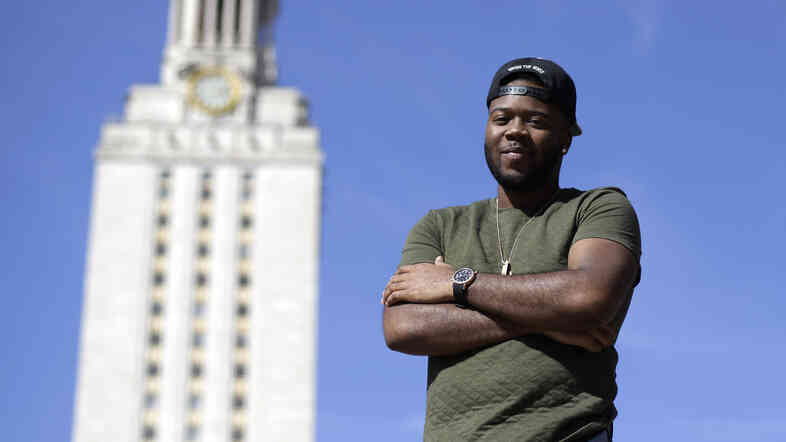 Last year, Bradley Poole posed for a photo at the University of Texas after becoming president of the school's Black Student Alliance.