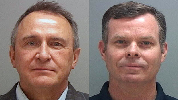 Former Utah attorneys general Mark Shurtleff (left) and John Swallow were taken into custody Tuesday as part of