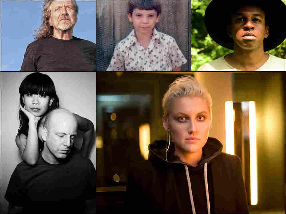 Clockwise from upper left: Robert Plant, a young Jeff Tweedy, Sinkane, Sarah Jaffe, The Juan MacLean.