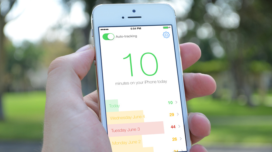 Moment is an iPhone app that lets users see how much time they're spending on their cellphones.