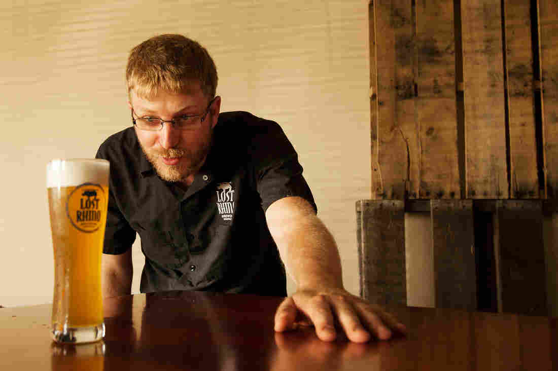 Jasper Akerboom of the Lost Rhino Brewing Co. in Ashburn, Va., tested a dozen yeasts before finding one that was perfect for making bone beer.
