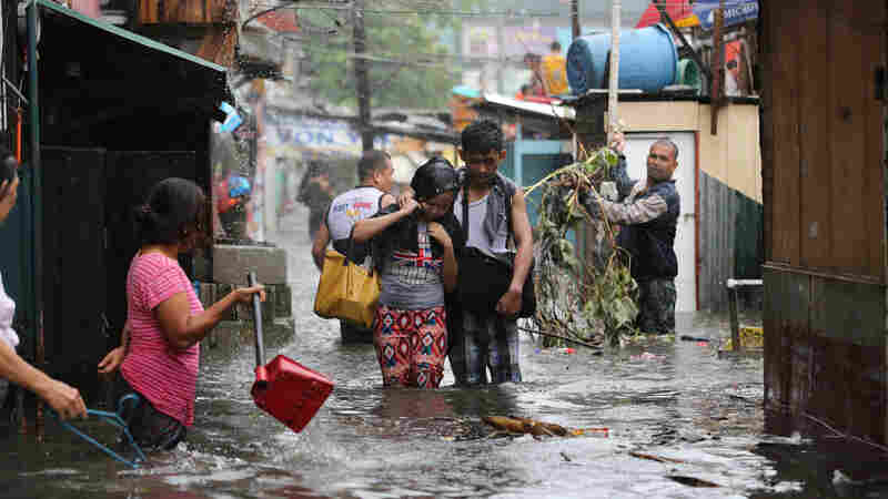 A Dozen People Killed As Typhoon Batters The Philippines