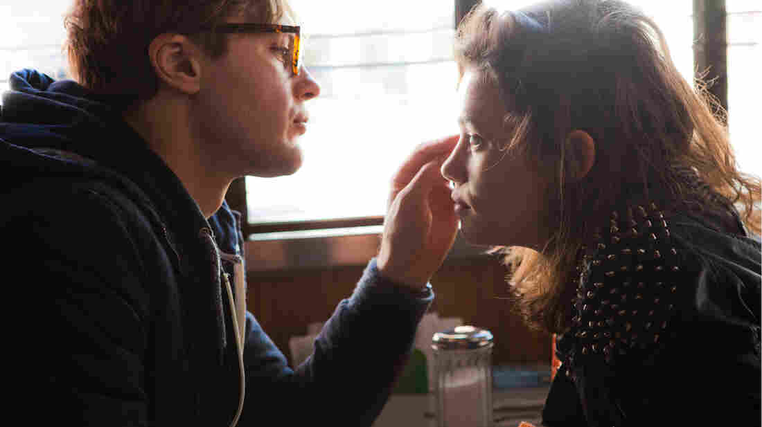 """In I Origins, Michael Pitt (left) plays a molecular biologist who becomes emotionally and philosophically entranced by free-spirited """"Sofi"""" (Astrid Bergès-Frisbey) and her speckled eyes."""