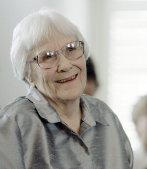 Author Harper Lee smiles during a 2007 ceremony in Montgomery, Ala.
