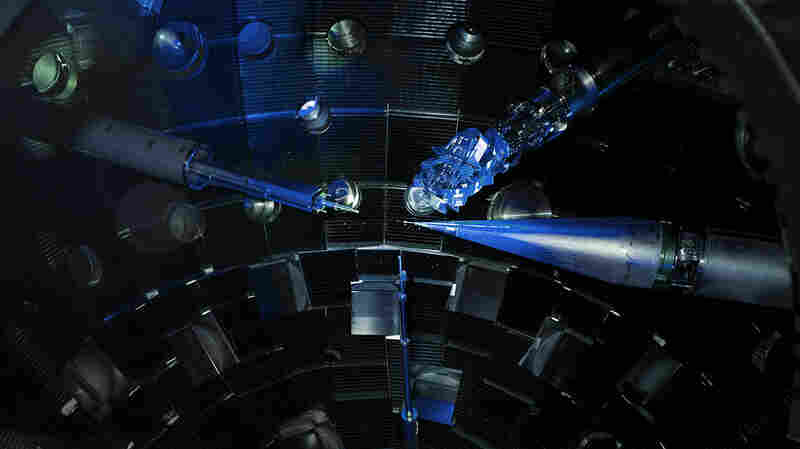 Physicists put diamonds at the center of this massive laser, to see what would happen.