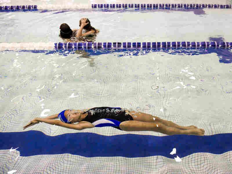 Peri Schiavone gets some practice laps at the YMCA in Reston, Va.