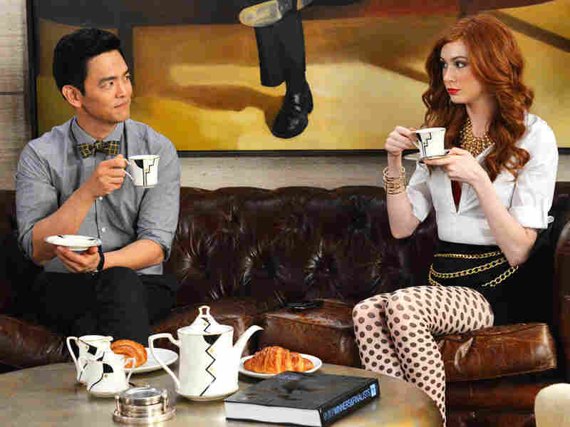John Cho (left) appears with Karen Gillan in the new ABC comedy Selfie.