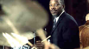 Drummer Kenny Clarke Performing at the Montreux Jazz Festival in 1968.