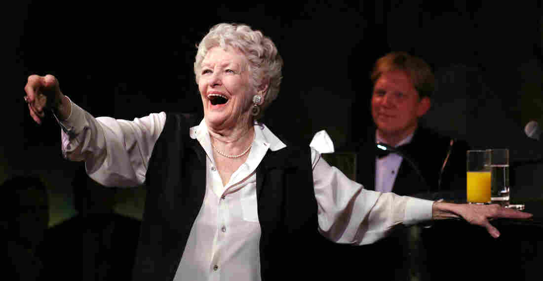 In a career that stretched back to the 1940s, Elaine Stritch did it all: theater, TV, movies. Above, Stritch performs her final engagement at the Cafe Carlyle in New York in April 2013. Stritch died Thursday at the age of 89.