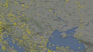 Some Airlines Say They Are Avoiding Ukrainian Airspace