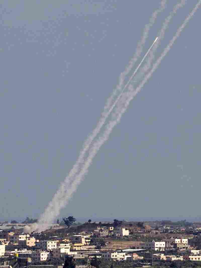 Rockets were launched from Gaza toward Israel on Wednesday, one day after an earlier cease-fire proposal failed.