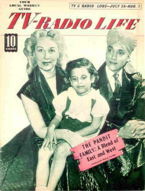 An old magazine cover with Korla Pandit and his family.