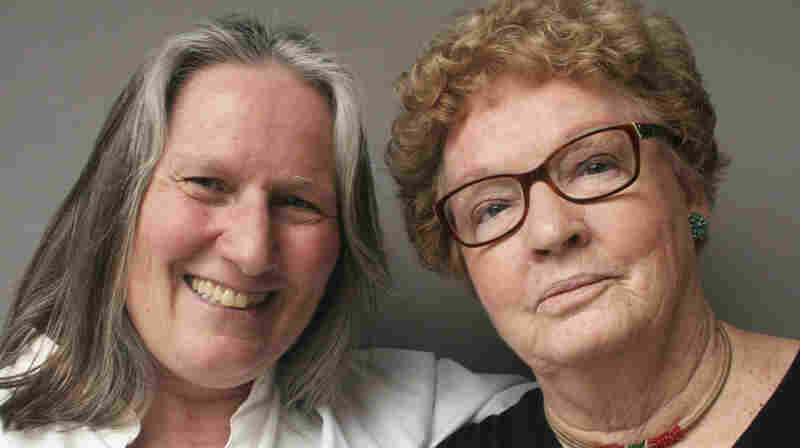 Clela Rorex (right) tells her friend Sue Larson that she doesn't regret her decision to grant the controversial marriage licenses.