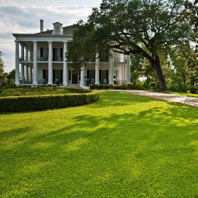 During the Civil War, Natchez surrendered to Union troops without a shot fired. Because of that, many of its elaborate, antebellum mansions -- like the Dunleith, pictured here -- survived the war.