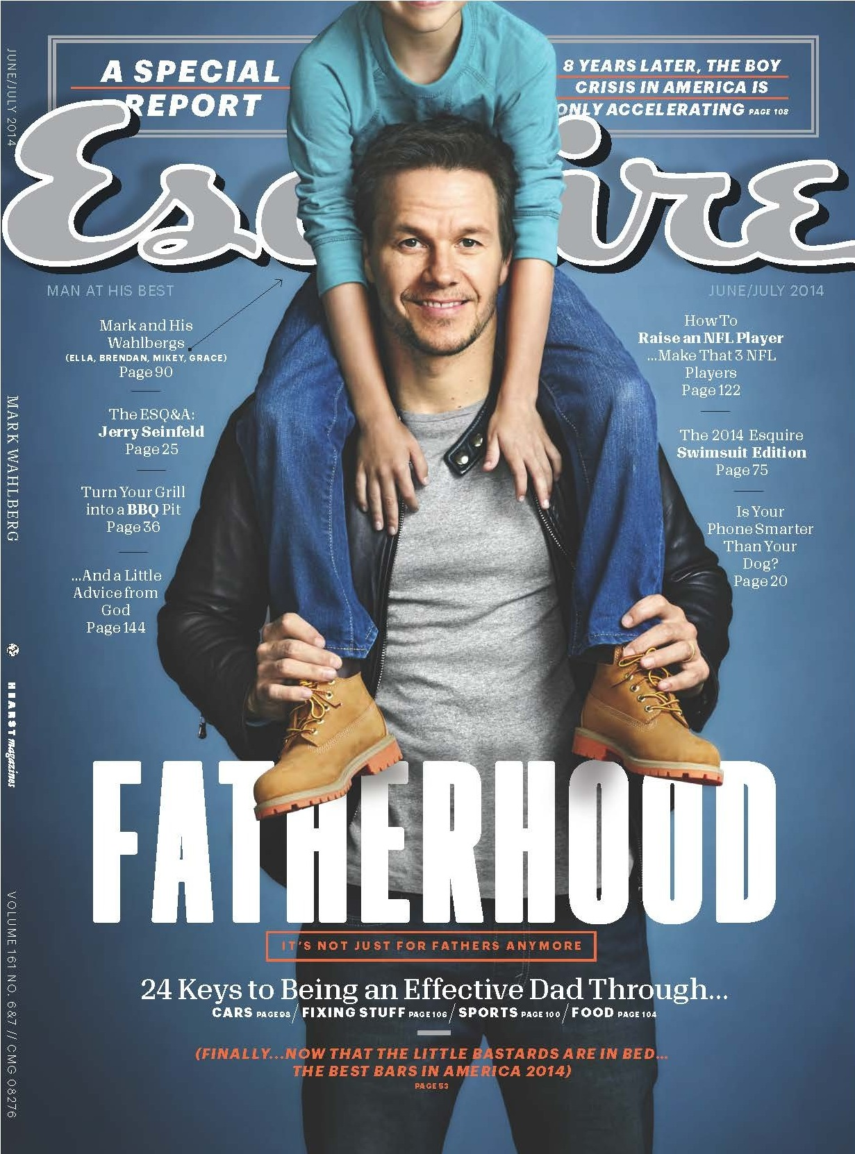 "A 2014 cover featuring Mark Wahlberg. When editor-in-chief David Granger was young, he says he considered Esquire a ""guidebook toward becoming a man."" In more than 80 years, that guidebook has changed dramatically -- and stayed the same in some surprising ways."
