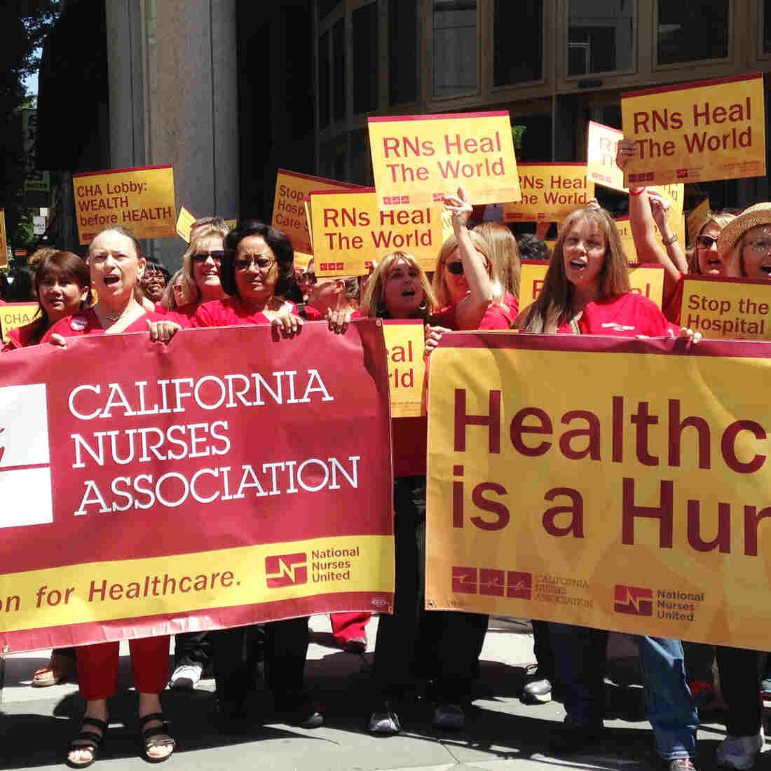 California Nurses Union Braces For Contract Battle