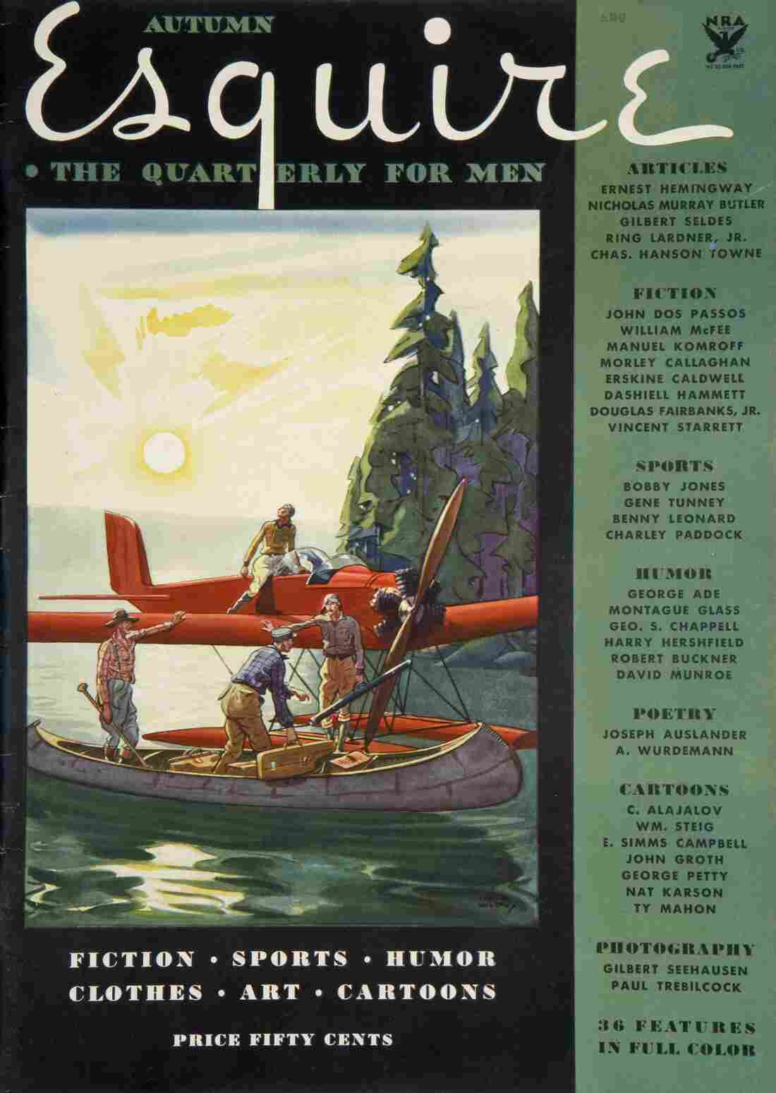 The cover to the very first issue of Esquire, published shortly after the magazine's founding by Arnold Gingrich.