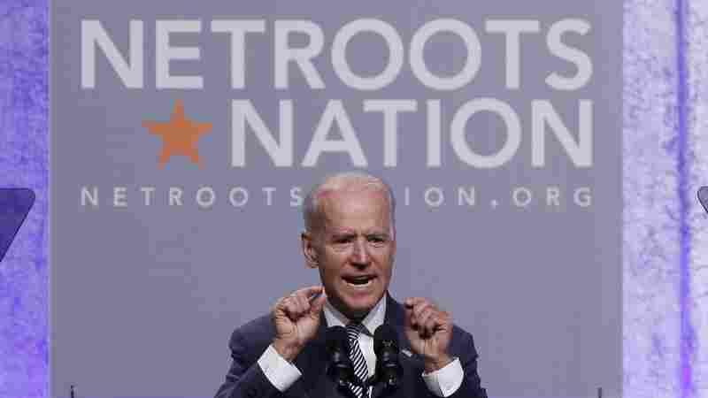 Vice President Biden addresses Democratic activists Thursday at Netroots Nation in Detroit.