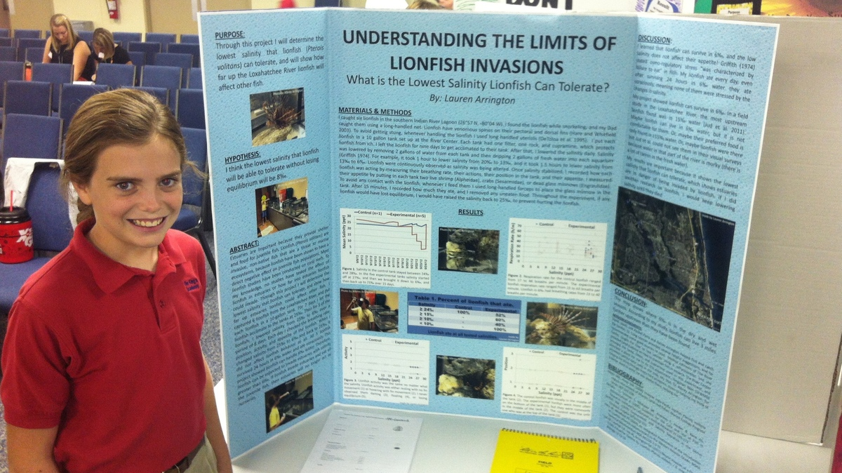 6th grade science fair project research paper