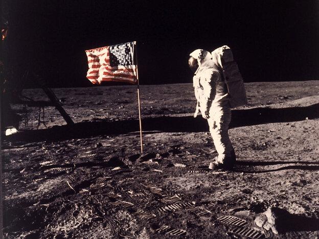 """Astronaut Edwin E. """"Buzz"""" Aldrin Jr. posing for a photograp"""