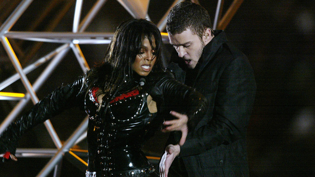 Complaints about Janet Jackson's Super Bowl halftime show performance of 2004 led to a record number of public interactions with the Federal Communications Commission. This year's net neutrality comments come in second. (Getty Images)