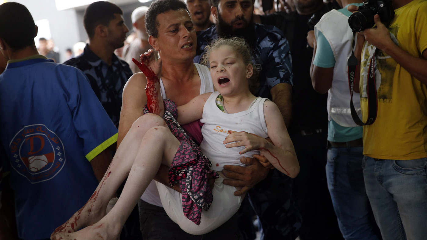In Crowded Gaza, Civilians Have Few Places To Flee