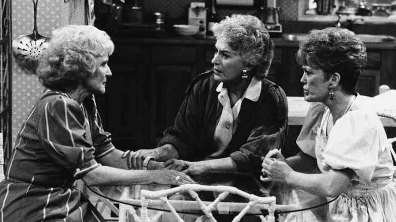 In true kick-ass Golden Girls fashion, Rose (Betty White, from left) Dorothy (Bea Arthur) and Blanche (Rue McClanahan) showed us how utterly human we all are at any age.