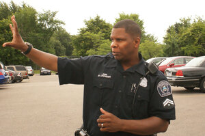 Officer Michael Crowder says his roots are too deep to leave Detroit, but he knows younger officers who were lured away by better