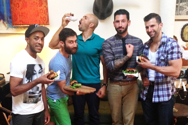 Mixed martial arts fighter Cornell Ward (from left), chef Daniel Strong, triathlete Dominic Thompson, lifestyle blogger Joshua Katcher and co