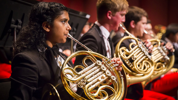 The French horns of the National Youth Orchestra of the USA — a yearly summer project organized by Carnegie Hall — rehearsed Saturday in Purchase, N.Y. in advance of their tour around the country.