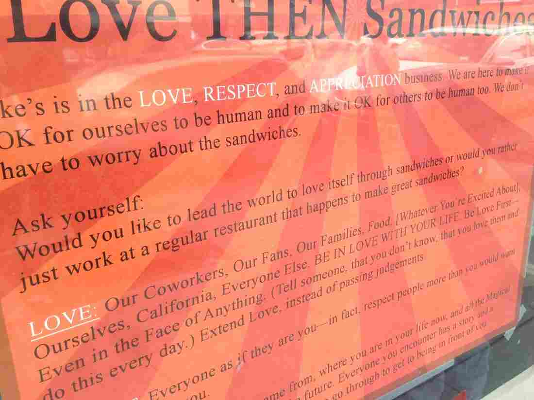 OK, sign, we've asked ourselves the question. And, yes, we would like to lead the world to love itself through sandwiches.