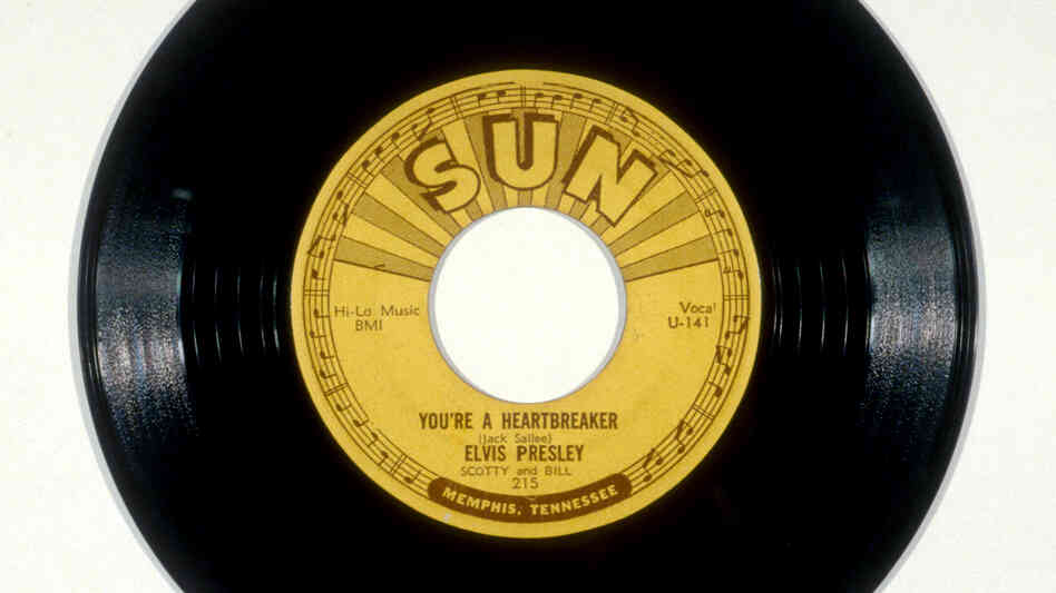 "The 1954 Elvis Presley single ""You're a Heartbreaker,"" recorded at one of the singer's early sessions at Sun Studio."