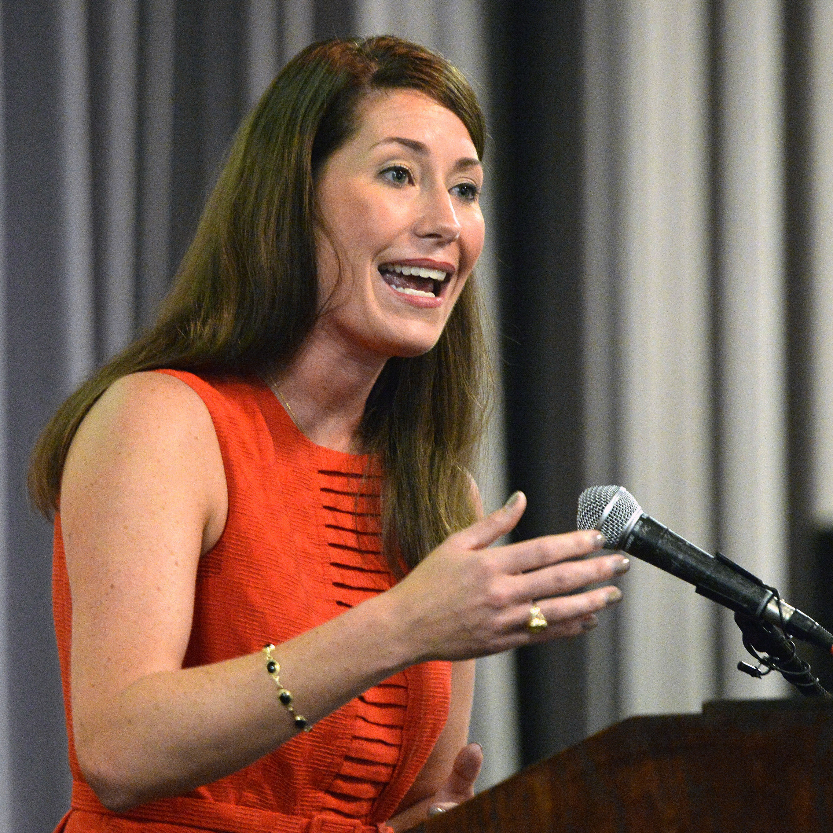 Democrat Alison Lundergan Grimes is running for Senate in Kentucky against Minority Leader Mitch McConnell.