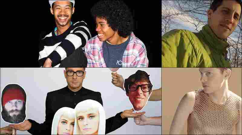 Clockwise from upper left: The Bots, Perfume Genius, Zammuto, The Rentals