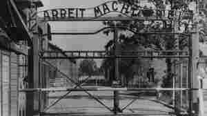 """The main gate of the Nazi concentration camp Auschwitz I in German-occupied Poland, where Johann """"Hans"""" Breyer served as a guard."""