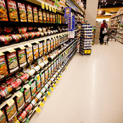 The soup isle at a grocery store in Washington, D.C, Tuesday, November 22, 2011.