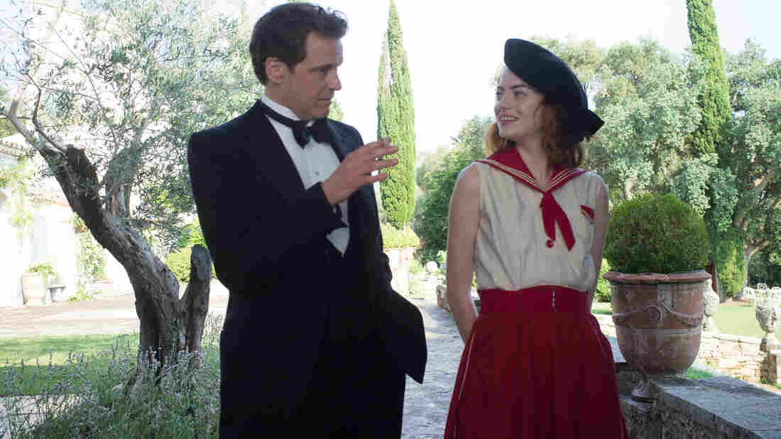 Colin Firth plays Stanley Crawford, a stage magician who sets out to debunk American mystic Sophie Baker (Emma Stone), in Woody Allen's Magic in the Moonlight.