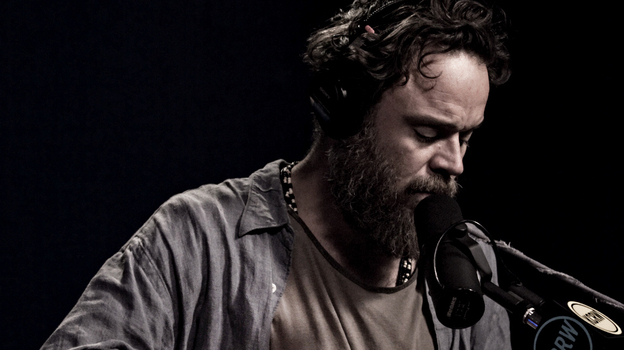Rodrigo Amarante performs live for Morning Becomes Eclectic. (KCRW)