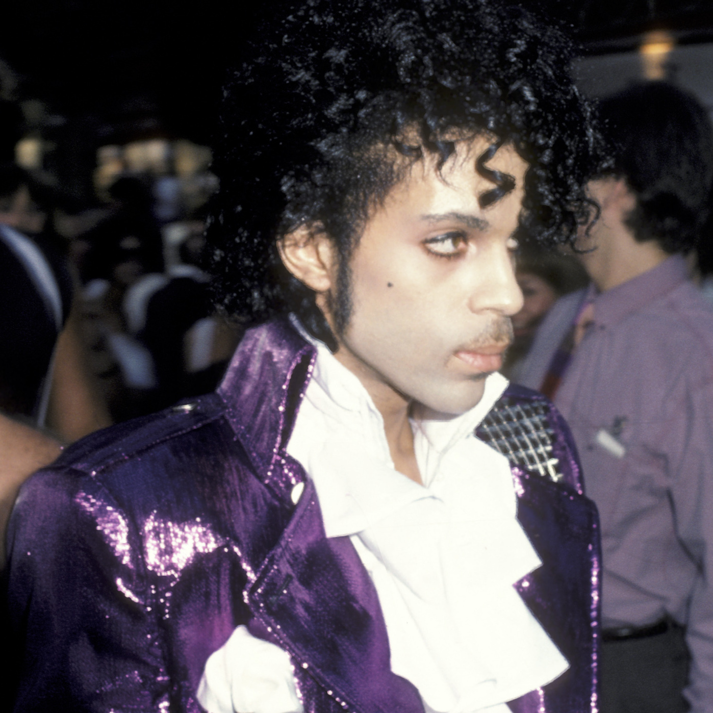 Prince makes his presence felt at the premiere of Purple Rain on July 26, 1984.