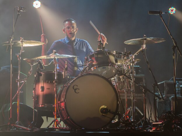 Sam Fogarino performing with Interpol at the Brixton Academy in London earlier this year.