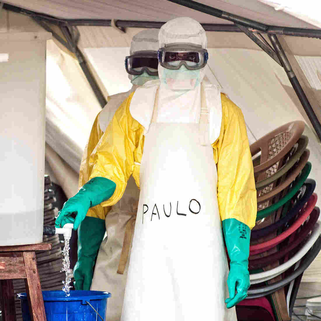 This Suit Keeps Ebola Out — So How Can A Health Worker Catch It?