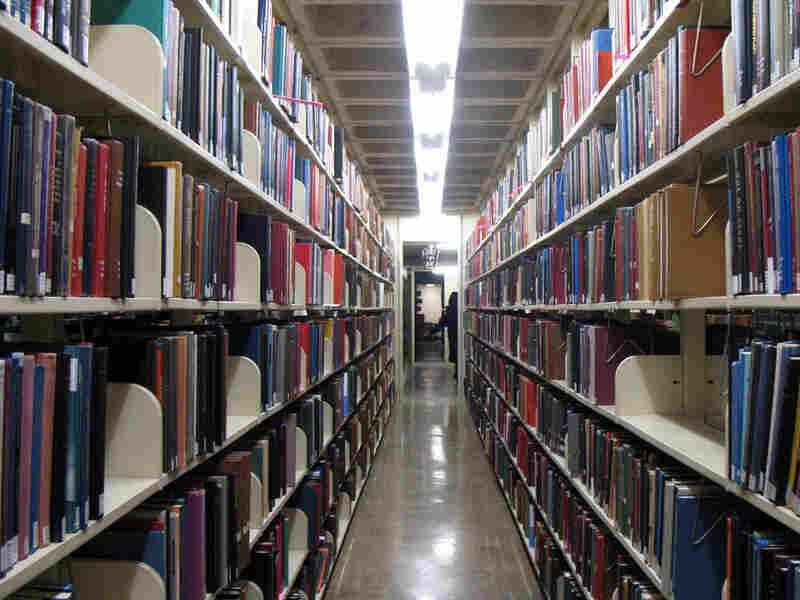 Inside Brown's John D. Rockefeller, Jr. Library.