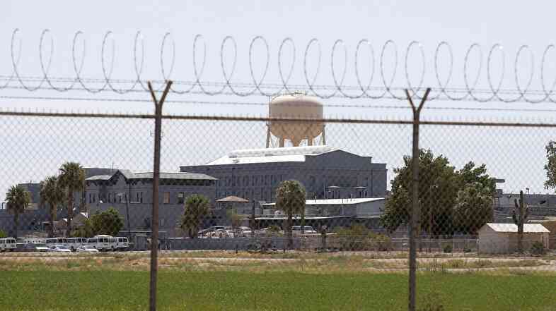 A fence surrounds the state prison in Florence, Ariz., where Joseph