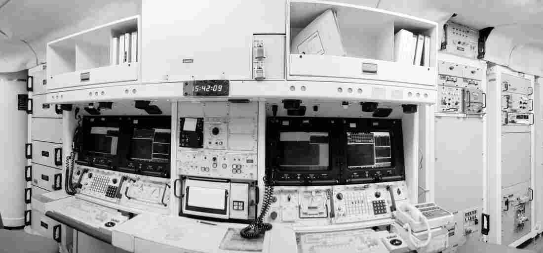 Missile crews spend 24 hours in a launch control center much like this one.