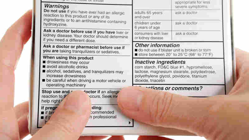 Traditional warning labels on medicine boxes tend to be long on confusing language, critics say, but short on helpful numbers.