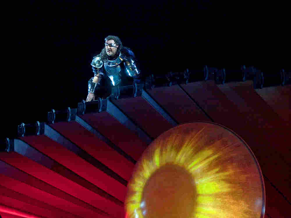 Bryn Terfel as Wotan in the Met's production of Wagner's Ring cycle, one of the productions that has been criticized by some as too costly.