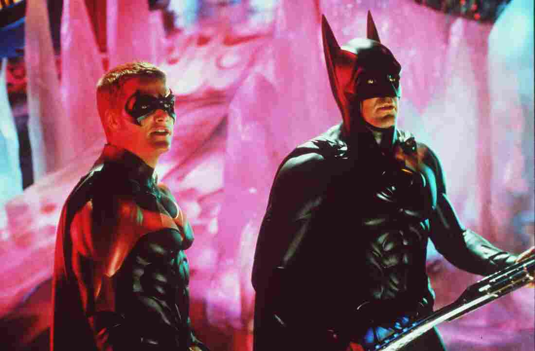 Batman and Robin have appeared on screen in many different forms over the years. Above, George Clooney as Batman and Chris O'Donnell as Robin in the 1997 film Batman & Robin.