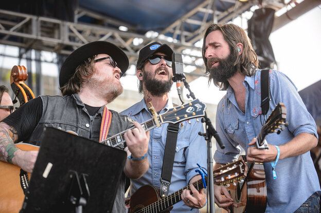 Band of Horses performs at the 2014 Newport Folk Festival.