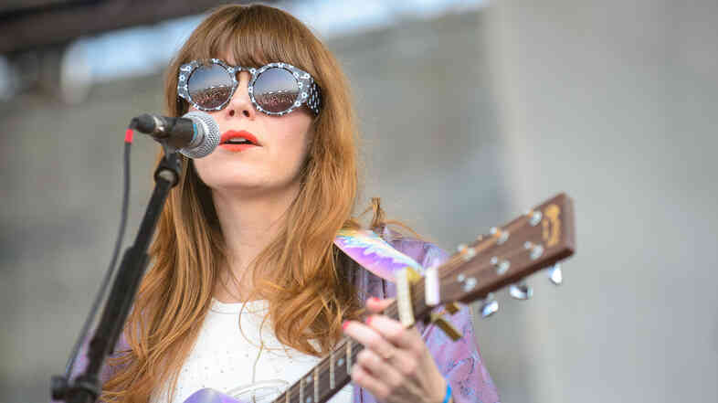 Jenny Lewis performs at the 2014 Newport Folk Festival.