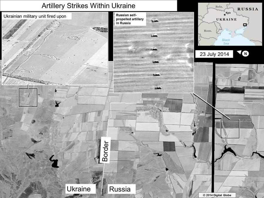 U S Satellite Images Show Russian Rockets Hitting Ukraine